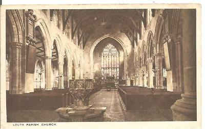 Rare Lovely Vintage Postcard,interior Of Parish Church,louth,lincolnshire
