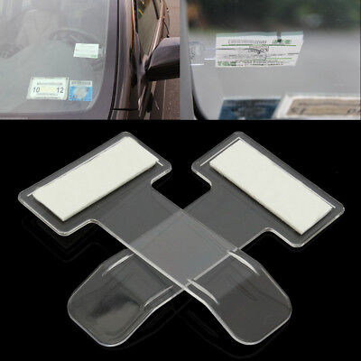 2Pcs Voiture Auto Clip Porte Carte Billet Ticket Permit Pince Pare-brise Support
