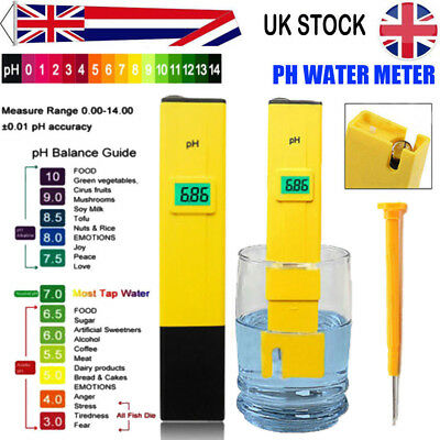 Digital TDS LCD PH Meter Water Purity PPM Filter Hydroponic Pool Tester Kitchen