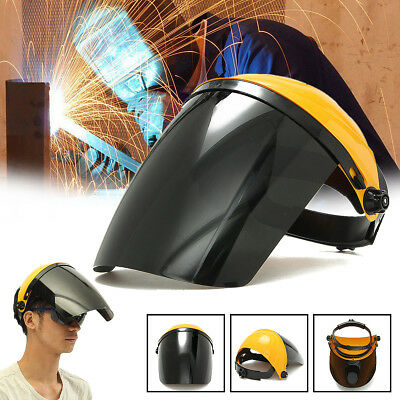 Welding Helmet ARC TIG MIG Welder Lens Grinding Mask Adjustable + Safety Goggles