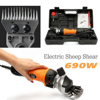 690W 6 Speed Electric Sheep Shearing Clipper Shear Goats Alpaca Farm Shears