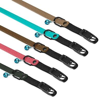 Leather Dog Collar Braided Puppy Collars For Dogs Brass Plated Pink Brown Black