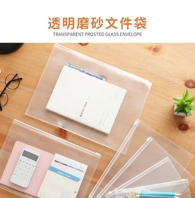 Pvc A4 A5 Clear Transparent Plastic Waterproof Stationery Case Zipper Bag Pouch Fast Color Office & School Supplies