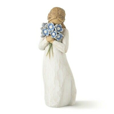 Forget Me Not Girl with Flowers Willow Tree Figurine By Susan Lordi  26454
