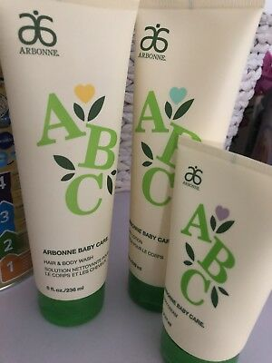 Arbonne Baby Care Nappy Cream Lotion And Wash BN