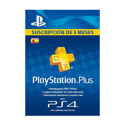 Tarjeta Sony Ps Plus 90 Dias/videoconsolas Ps Ps4 Sony Nintendo 2Ds 3Ds Gamepad