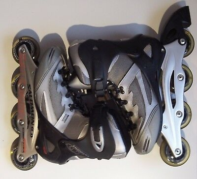 SALOMON WOMENS DR110 POWERARCH INLINE ROLLER BLADES SIZE UK 7.5 + protection kit