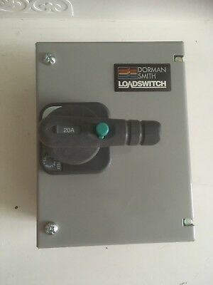 Dorman Smith 20 Amp Single Phase Load Switch HE1P20N E Frame Brand New In Box