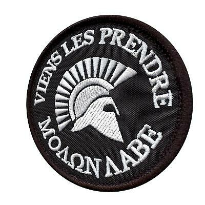 spartan molon labe français viens les prendre armée ecusson hook-and-loop patch