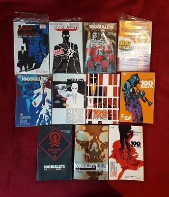 100 Bullets comic collection - graphic novels books 1-11 (one to eleven)