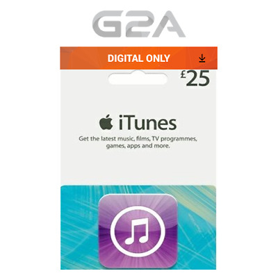 iTunes Gift Card £25 GBP Key - 25 Pound UK Apple Store Code for iPhone iPad Mac