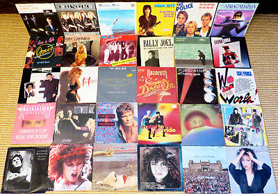 30 Singles 80er Soft Rock Classic Pop Rock Oldies 7 Schallplatten Musikbox vinyl