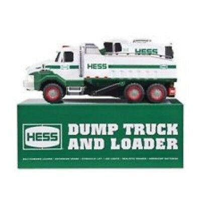 2017 Hess Dump Truck and Loader NIB with Extra AA Batteries