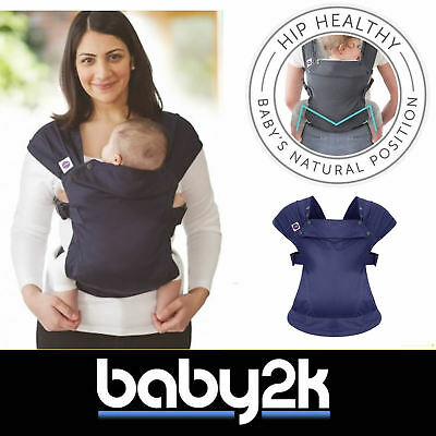 Izmi Baby Infant Carrier Wrap Front, Hip, Back & Outward Facing Midnight Blue