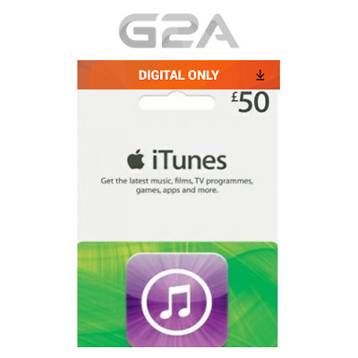 iTunes Gift Card £50 GBP Key - 50 Pound UK Apple Store Code for iPhone iPad Mac