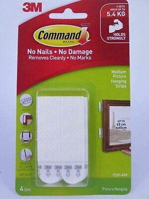 WHITE 3M Command™ Medium Picture Hanging Strips 17201