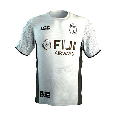 Fiji Rugby 7's Sevens 2018 ISC Players White Training T Shirt Sizes S-5XL!