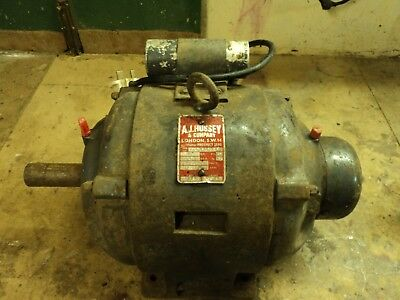Large Old Electric Motor - 2 HP 11 Amps