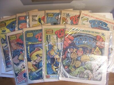 10 2000AD Featuring Judge Dredd Comic Lot 183-192 1980 Excellent Condition