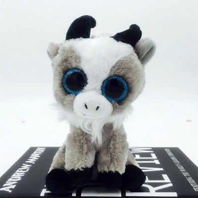 Cute goat TY Beanie Boos Plush Stuffed Toys Glitter Eyes (6 inch)