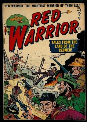 Red Warrior #6-Joe Maneely Cvr- Tales From The Land Of The Redmen!