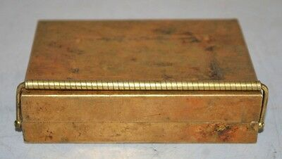 Old 1900's Indian Vintage Traditional Gold Plated Brass Betel Nut Box
