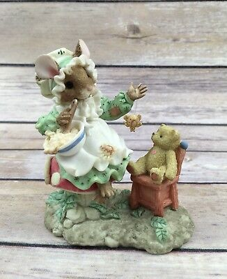 "1995 Priscilla Hillman Enesco Mouse Tales ""Little Miss Muffet"""