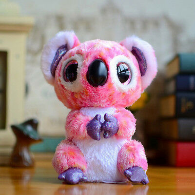 Cute Colorful Koala TY Beanie Boos Plush Stuffed Toys Glitter Eyes (6 inch)