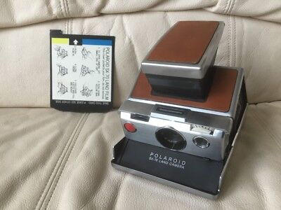 Polaroid SX-70 Instant Camera-Tested & Working-Needs Body Repair-Ships Today