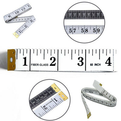 "Multi-use 2X Body Measuring Ruler Sewing Tailor Tape Tools Measure 60""/150cm"
