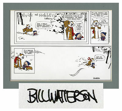 Bill Watterson Calvin & Hobbes 1995 Color Proof Signed