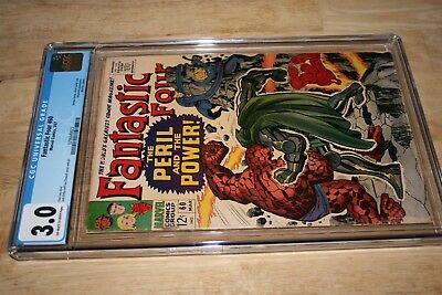 Fantastic Four #60_March 1967_Cgc Graded 3.0_Silver Surfer_Doctor Doom_Inhumans!