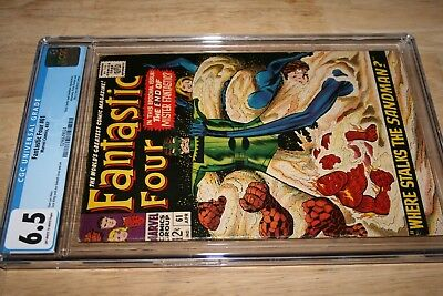Fantastic Four #61_April 1967_Cgc Graded 6.5_Silver Surfer_Sandman_Silver Age!