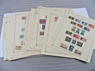 VIETNAM, Excellent assortment of Stamps hinged/mounted on remainder Scott pages