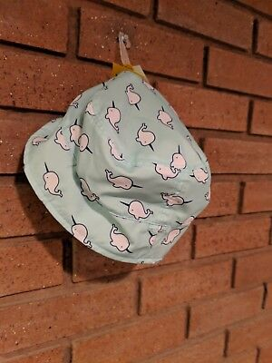 NWT Baby Cat & Jack Sun Hat UPF 50 Size 12-18 Months Narwhal