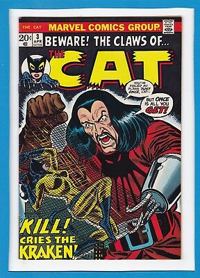 Beware! The Claws Of The Cat #3_April 1973_Very Good/fine_Bronze Age Marvel!