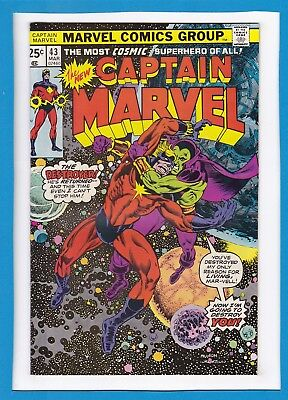 Captain Marvel #43_March 1976_Nm Minus_Drax The Destroyer_Bronze Age Marvel!