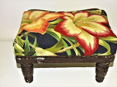 Late 1800s Antique Footstool With Boot Scraper