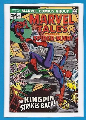 Marvel Tales #65_March 1976_Very Fine_Kingpin_Reprints Amazing Spider-Man #84!