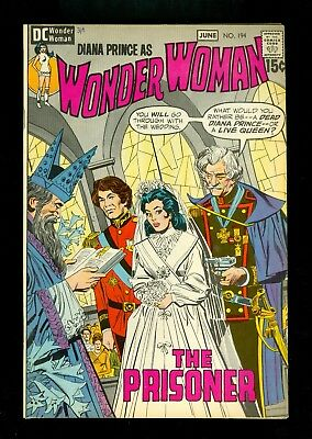 WONDER WOMAN #194 -- June 1971 -- Wedding Cover -- VF/NM Or Better