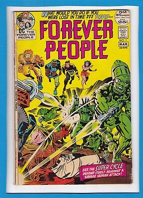 THE FOREVER PEOPLE #7_MARCH 1972_VERY GOOD+_JACK KIRBY_BRONZE AGE 52 Pg GIANT!