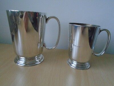 2x 1959 Silver Plated Tankard 1st Battalion The Royal Ulster Rifles Pistol Shot