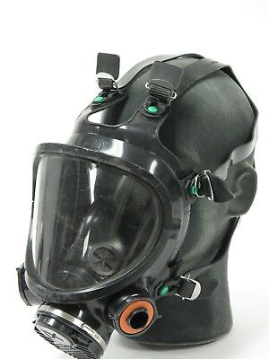 3M 7800S-S Full Face Respirator LARGE with Model 701 Filter Adapter Gas Mask