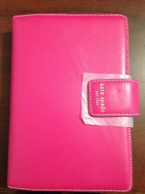 New KATE SPADE  DEBRA PERSONAL SIZE HOT PINK/RED  JANE STREET PLANNER/ORGANIZER