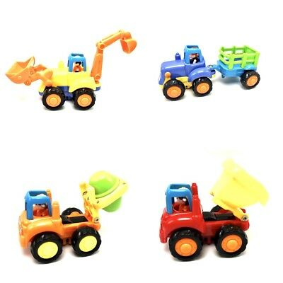 Friction Powered Push And Go Construction Vehicles Toy Set Kids 18M+  New