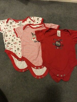 3 Christmas Vests Age 6-9 Months