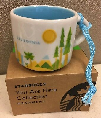 Starbucks California 2015 Ornament YAH Collection 2 Oz Mini Demi Cup New In Box