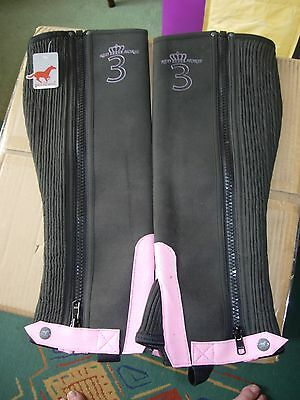 Extra sml horse riding chaps equestrianpolo,outdoor black/pink Sports,Girls Xmas