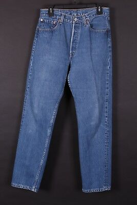 Vtg Levis 501 Buttonfly High Waist Mom Boyfriend Jeans Usa 31X31