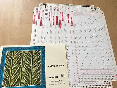 Knitting Machine Accessory's Punch Cards For Standard Gauge Machines Series 55